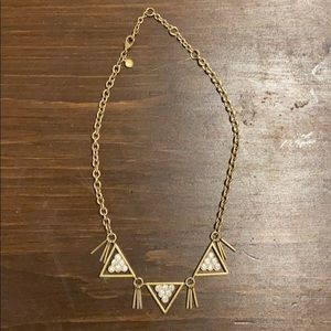 J. Crew Crystal and Gold Necklace